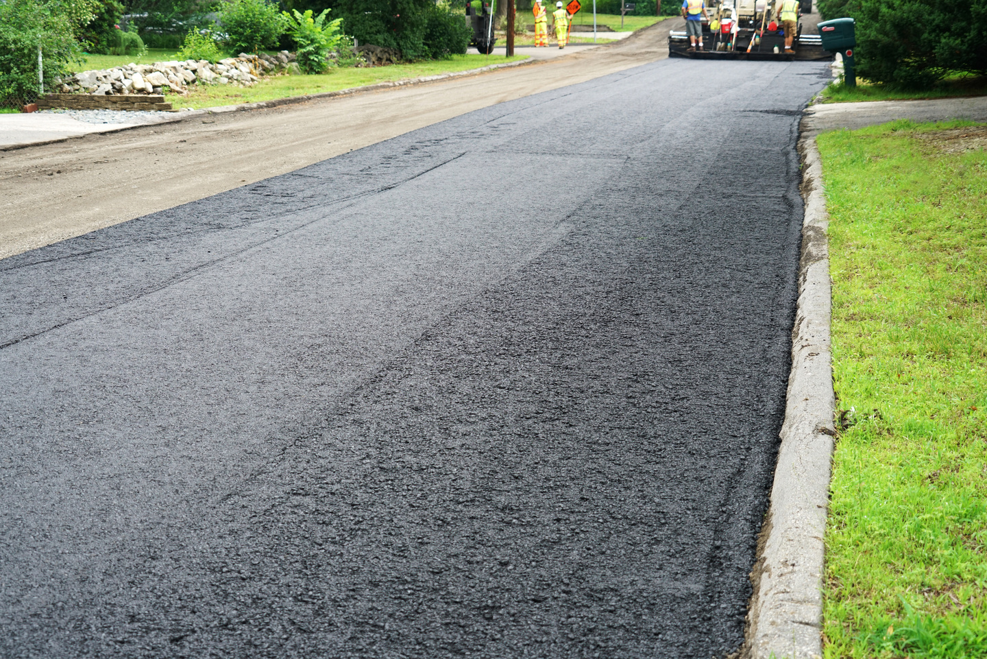 pavement in residential area