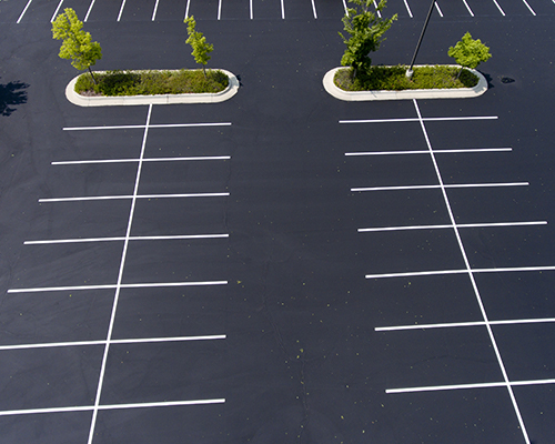 We do parking lot paving for commercial and retail parking lots