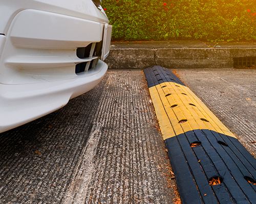 Install the speed bumps in your commercial property