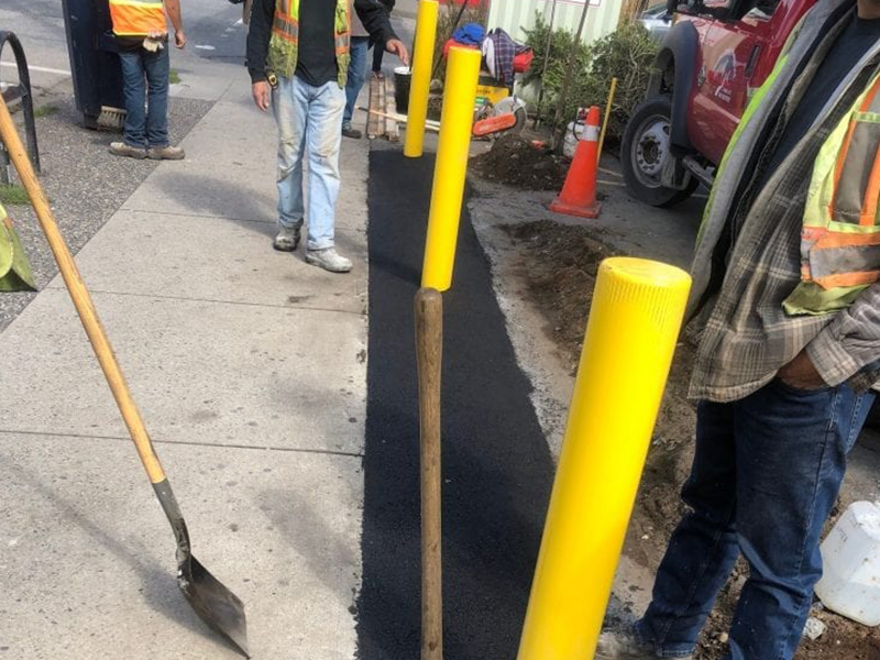 one of the commercial parking lot repair project